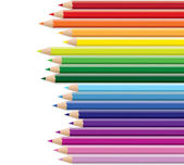 Rainbow pencils — Vector de stock