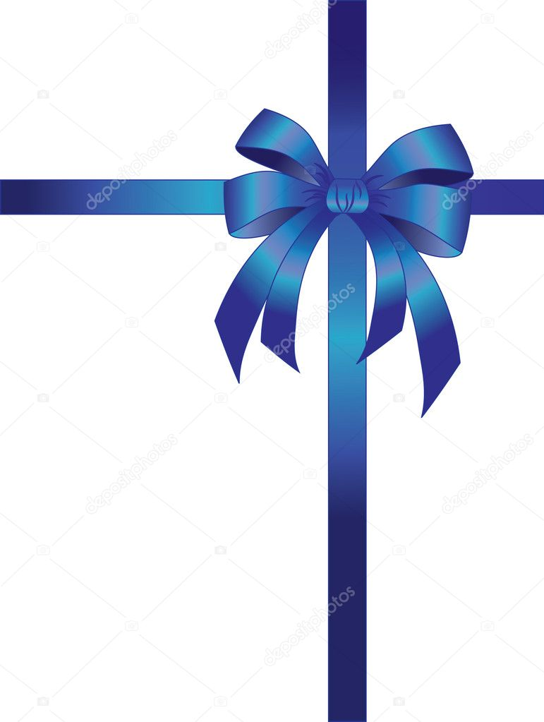The vector illustration contains the image of bow and ribbon — Stock Vector #1133403