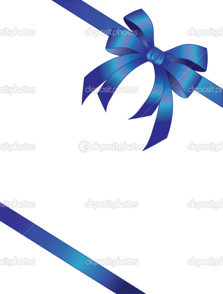 The vector illustration contains the image of bow and ribbon  Stock Vector #1133407