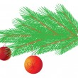 Royalty-Free Stock Vektorgrafik: Branch of christmas tree