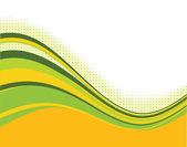 Oranje en groen curven achtergrond — Stockvector