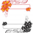 Stock Vector: Abstract floral frame