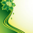 Green ribbons background — Stock Vector #1168813