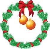 Christmas chaplet — Stock Vector