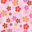 Royalty-Free Stock Vector Image: Seamless flowers pattern
