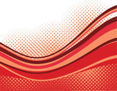Red waves background — Stock Vector