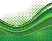 Green waves background — Stockvektor