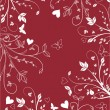 Floral valentines background - Stock Vector
