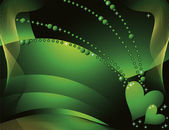 Green hearts — Stock Vector