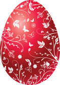 Easter red egg — Stock Vector
