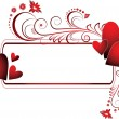Valentines frame - Imagens vectoriais em stock