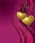 Violett valentines bakgrund — Stockvektor