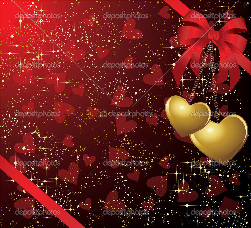 The vector illustration contains the image of  valentines background — Stockvektor #1723259
