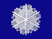 Snowflake on blue background — Stock Vector
