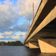 Riga island bridge — 图库照片