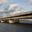 Riga island bridge — Stock Photo
