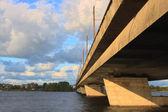 Most wyspa w rydze — Zdjęcie stockowe