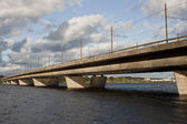 Riga island bridge — Stockfoto