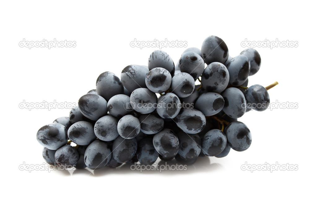Cluster of grapes isolated on white background — Stock Photo #1099398