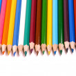 Colored pencils isolated on white — Stock Photo
