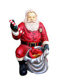 Figure of Santa Claus isolated on white — Stock Photo