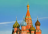 St. Basil Cathedral in Moscow. Russia. — Stock Photo