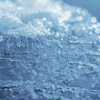 Natural blue ice and snow — Stock Photo