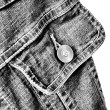 Fragment of jeans jacket - Stock Photo