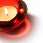 Burning candle — Stock Photo