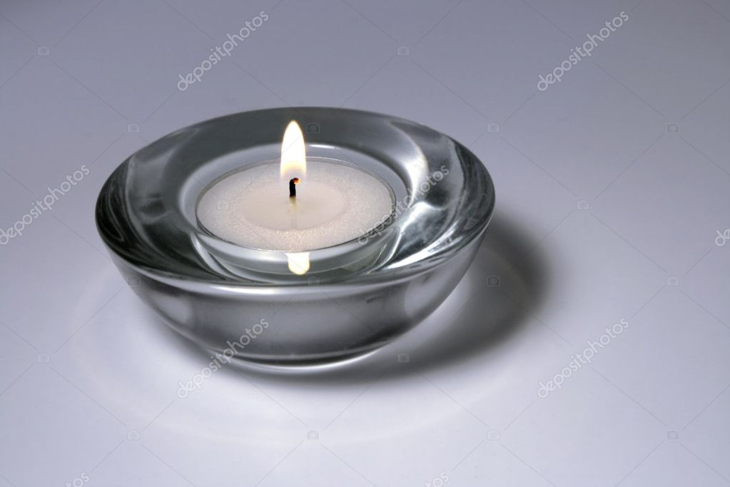 Close-up of burning candle — Stock Photo #1137689