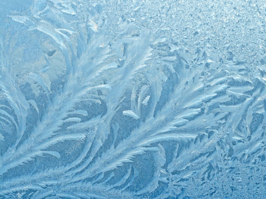 Frosty natural pattern on winter window  Stock Photo #1141912