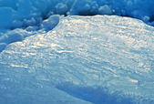 Closeup of blue ice — Stock Photo