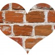 Brick heart — Stock Photo
