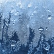 Photo: Frost on winter glass