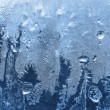 Frost on winter glass — Stock Photo