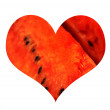 Royalty-Free Stock Photo: Watermelon heart