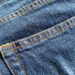 Blue jeans background — Stock Photo
