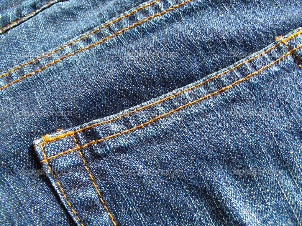 Fragment classic fashioned jeans — Stock Photo #1265658