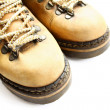 Closeup of old yellow boots — Stock Photo