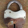 Old rusty padlock — Stock Photo