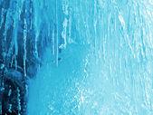 Blå naturis konsistens — Stockfoto