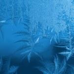 Frost on windowpane — Stock Photo