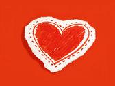 Papper hjärta — Stockfoto