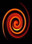 Abstract twirled fire — Stock Photo