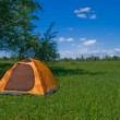 Yellow tourist tent — Stock Photo #1192604