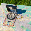 Compass and map — Stock Photo #1192896