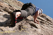 Climbers practices — Stock Photo