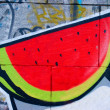 Drawn water-melon - Stock Photo
