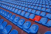 Dark blue rows of seats — Stock Photo