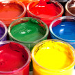 Containers with paints — Stock Photo